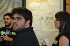 Equipo Neon Roots planificando