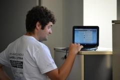Fabrizio de la organización con el Live Stream