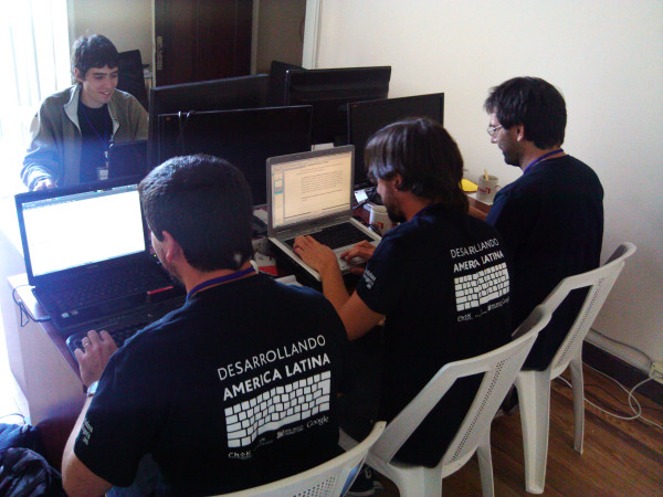 hackers hacking in the hackathon