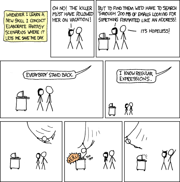 Expresiones regulares xkcd
