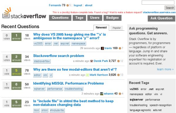 Captura Stack Overflow