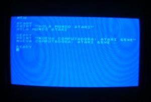Atari 65XE - Hola mundo