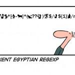 Antigua expresión regular egipcia