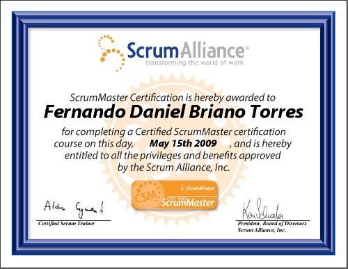 Fernando Briano - Certified Scrum Master