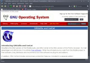 GNU Icecat 3.5 en Debian