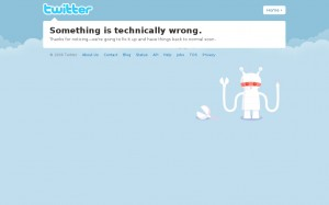 Error técnico Twitter
