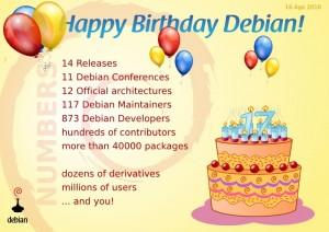 Feliz cumpleaños Debian