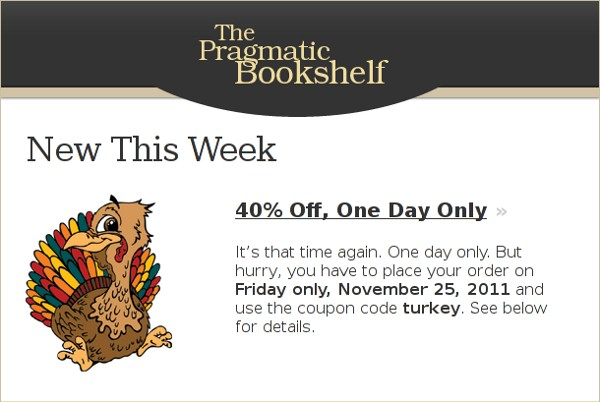 The Pragmatic Bookshelf - black friday