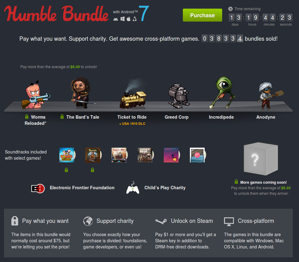Humble Bundle with Android 7
