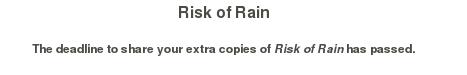 Clave Risk Of Rain