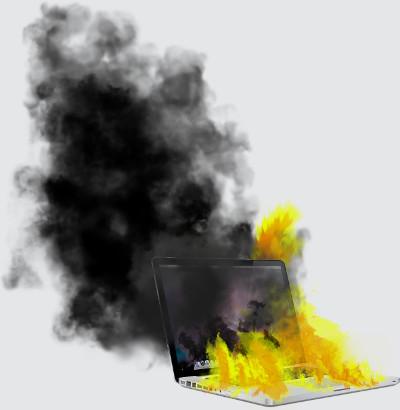 Mac on Fire