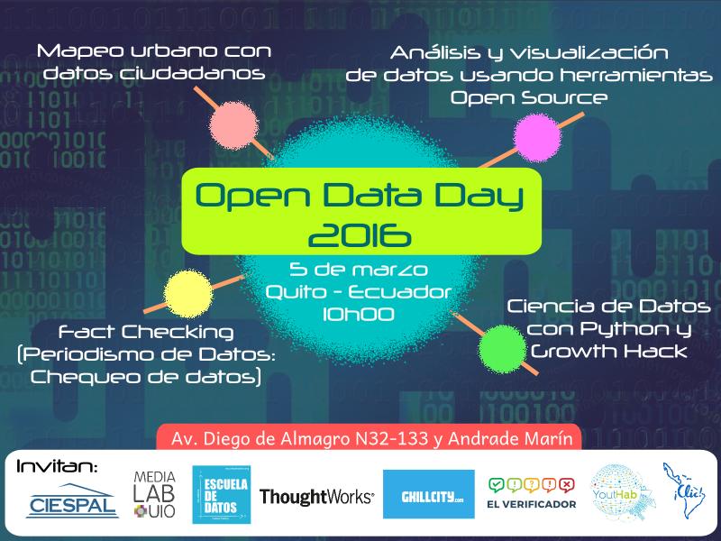 Día Mundial de los Datos Abiertos 2016 - Quito
