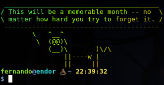 fortune-cowsay-lolcat