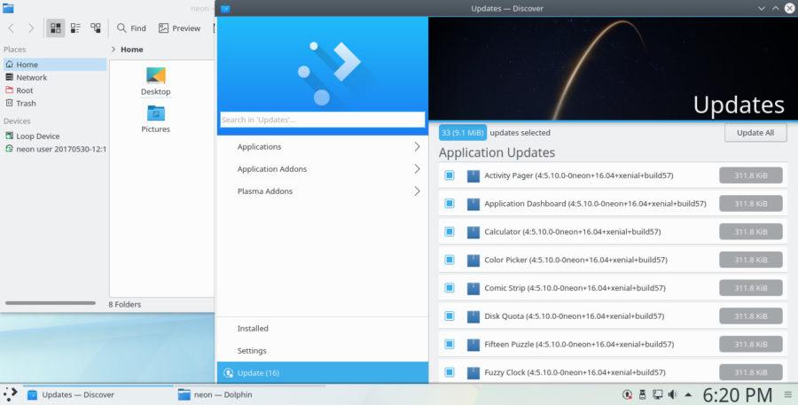 KDE Neon - Software