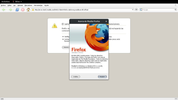 Wine + Firefox Portable 2.0.0.6