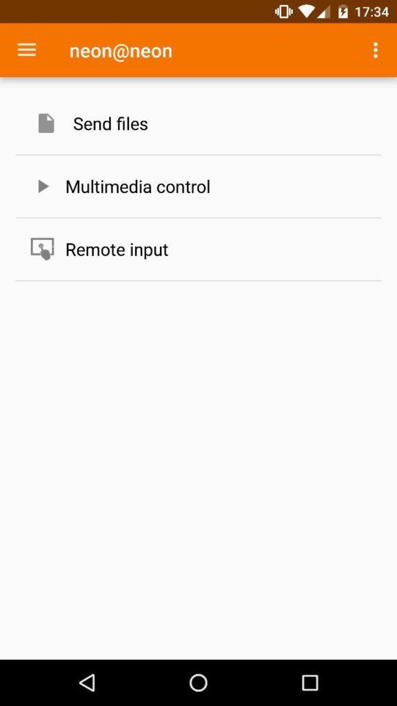 KDE Connect en Android