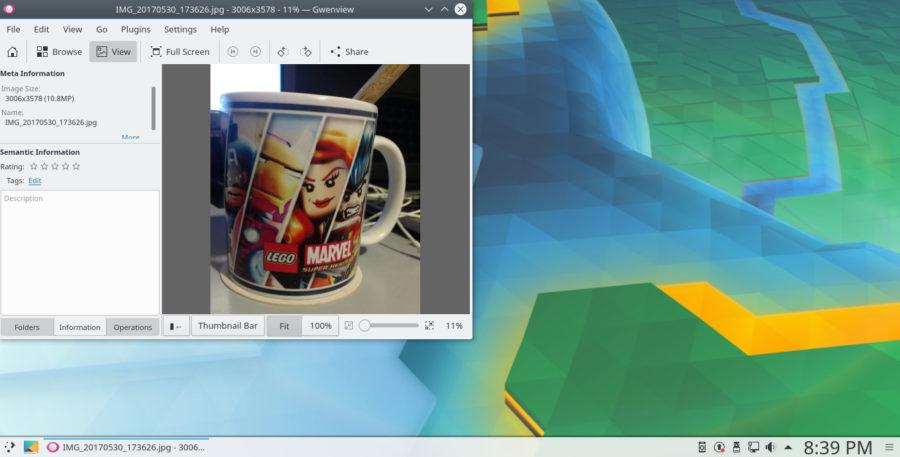 KDE Connect - Compartiendo imagen