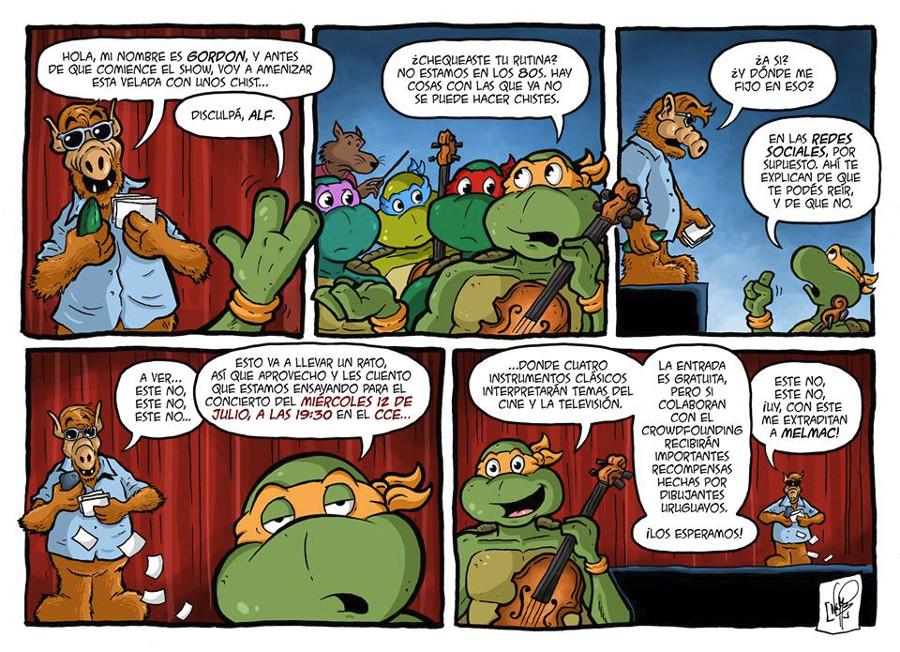 La invitación en forma de cómic, por Nicolás Peruzzo.