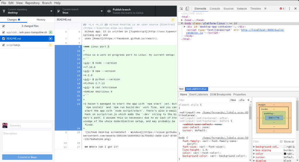 GitHub Desktop Linux