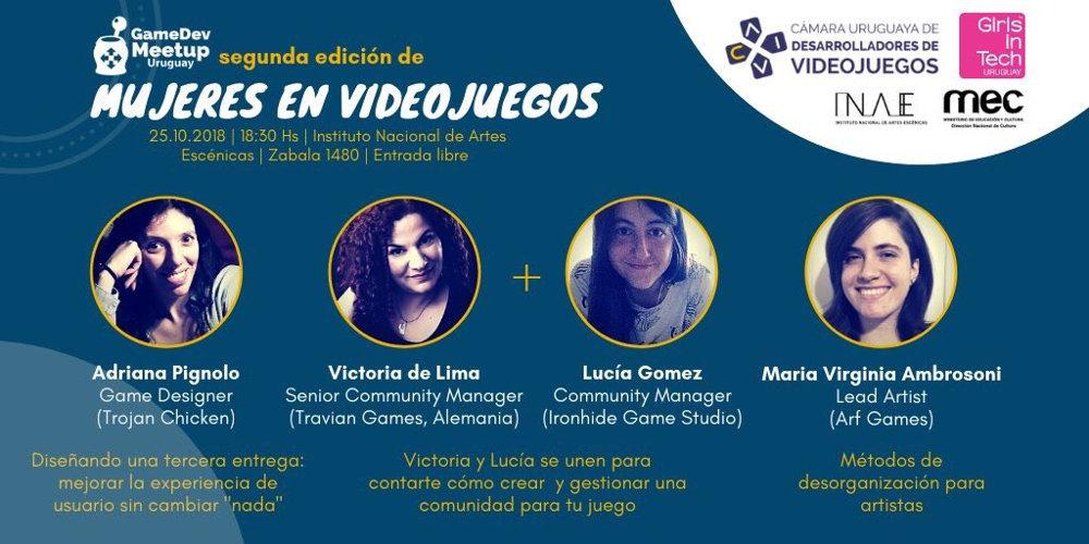 Gamedev Meetup Uruguay: Mujeres en Videojuegos