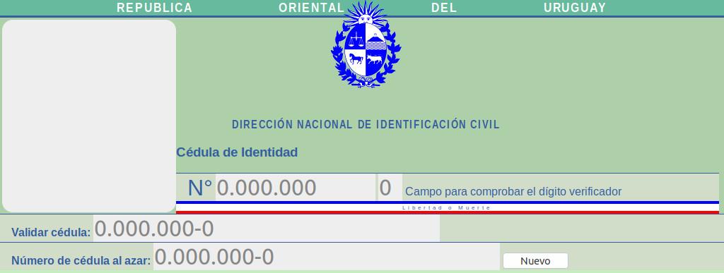 Validador de Cédulas de Identidad Uruguaya