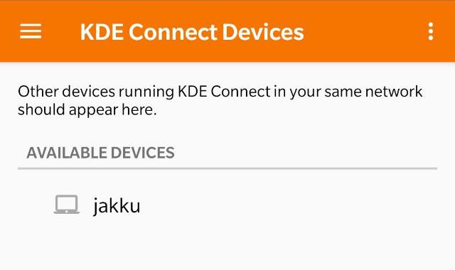 KDEConnect dispositivos