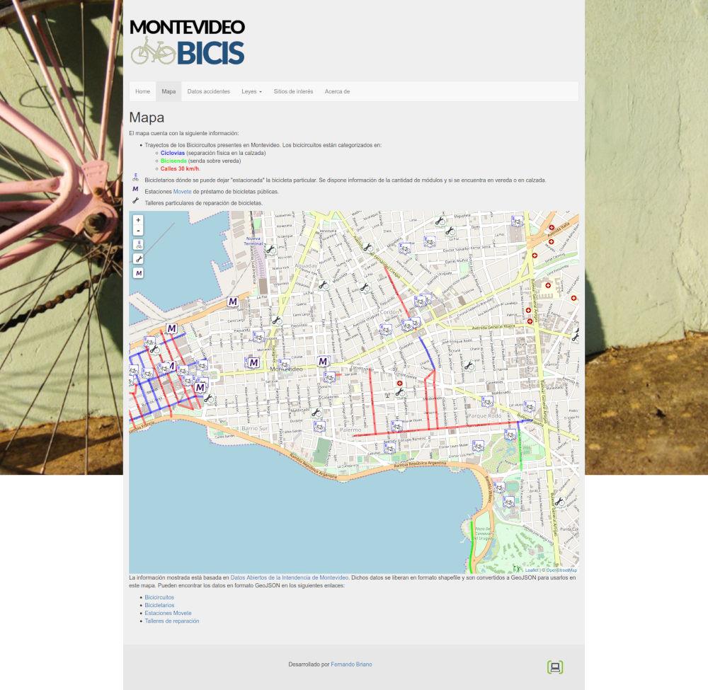Montevideo Bicis Antes